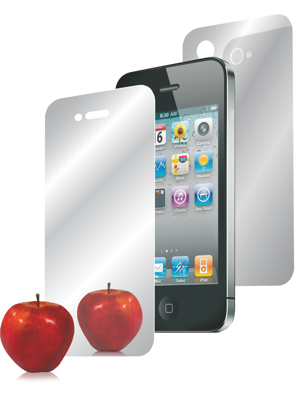 Ipad mirror effect screen protector for Miroir iphone