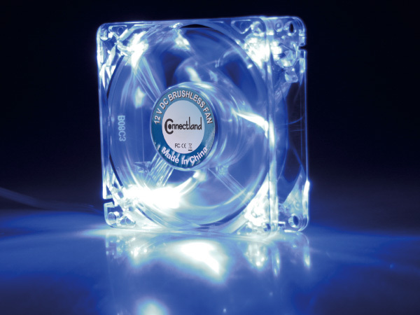 8 CM COOLER FAN WITH LED