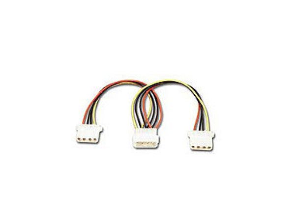 Molex 4 pins power supply Y splitter cable