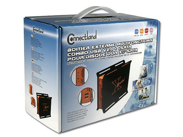 boitier externe combo usb v2 0 esata pour disque dur sata 3 5 39 39. Black Bedroom Furniture Sets. Home Design Ideas