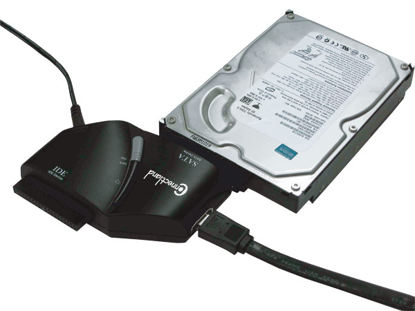EXTERNAL DUAL IDE TO USB & SATA TO eSATA ADAPTER