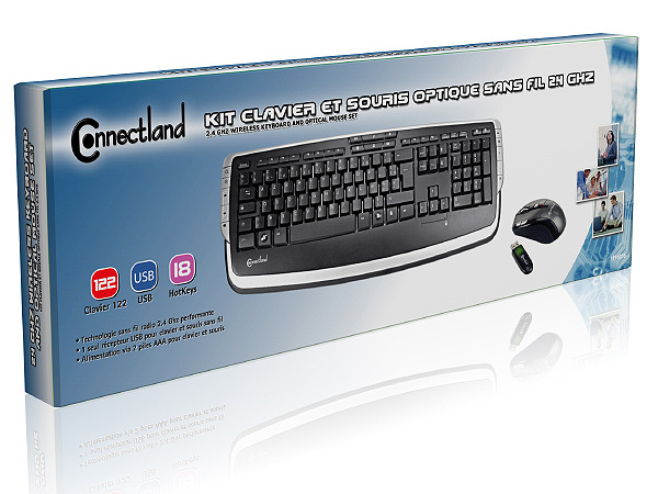 2.4 Ghz Wireless Keyboard And Optical Mouse Set