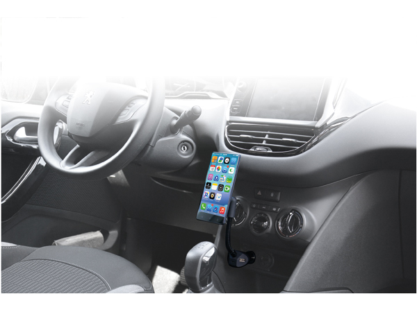 UNIVERSAL MAGNETIC CAR HOLDER WITH USB CHARGER