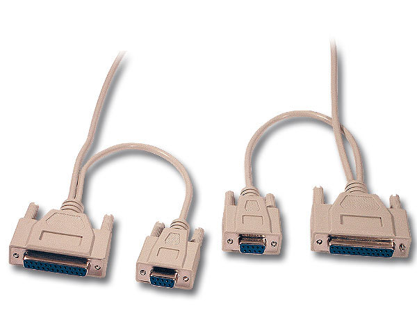 SERIAL LAP LINK CABLE DB9+DB25 FEMALE TO FEMALE