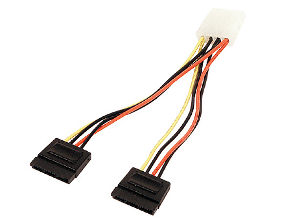 2X SERIAL ATA POWER SUPPLY CABLE TO 4 PINS